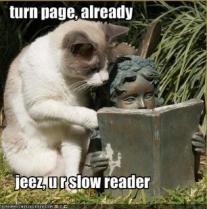 Speed reader vs Slow Reader :)