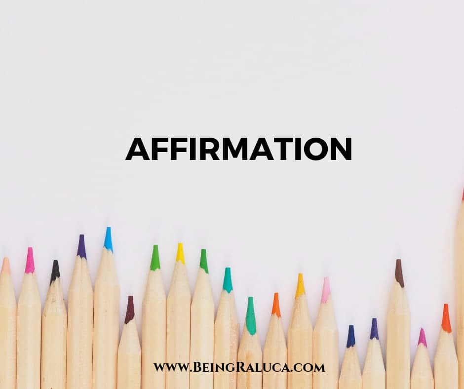 Affirmation, Our Creative Self & Spiritual Journey